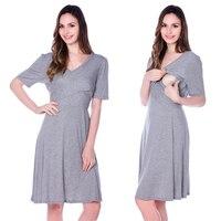 New Arrival Maternity Clothes Breastfeeding Nursing Summer Dress Cross Way Style