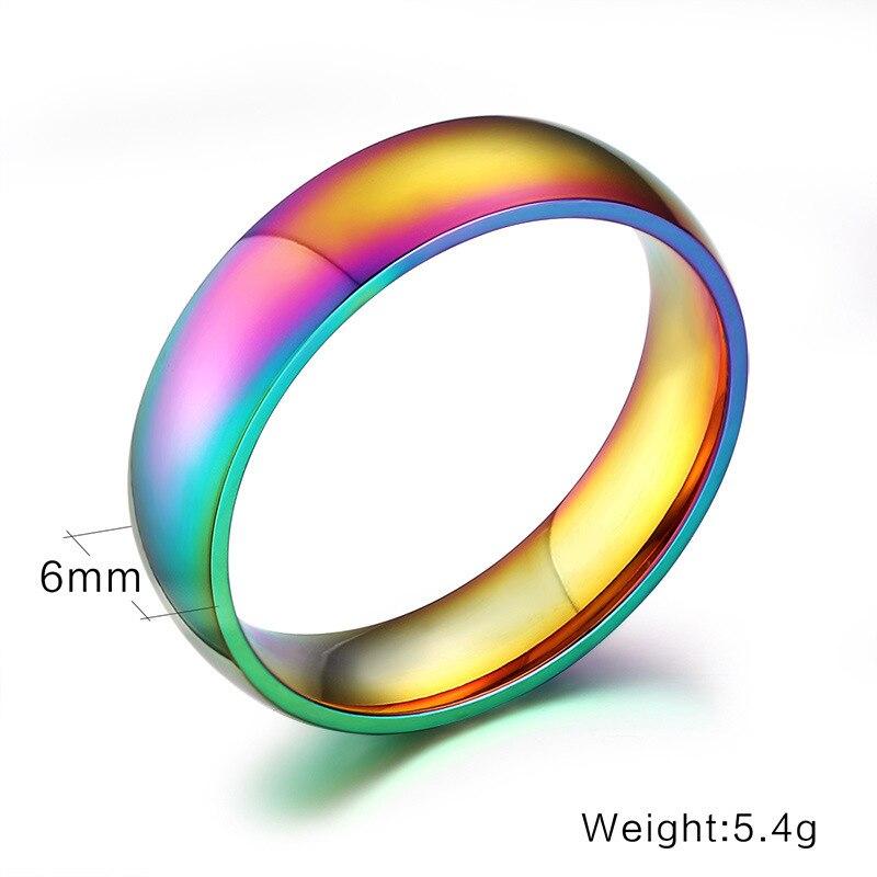 QianBei полированная 2018 мальчиков Для мужчин Красочные Smothy 316L Нержавеющаясталь кольца для Для мужчин Для женщин Для мужчин вечерние кольцо Дл...