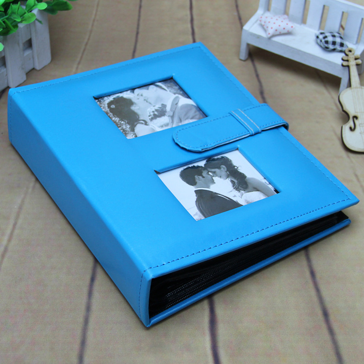 Fashion Leather Albums 6-inch 4R 200 Photos Albums Home Birthday Gift Gallery for Lover Wedding Birthday Gift Travel Photo Album image