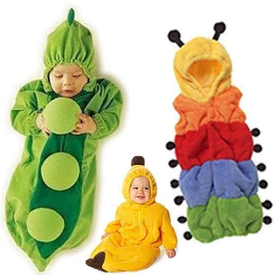 Ребенка спальный мешок анти-удар одеяло мультфильм горох банан гусеница флиса ползунки 0 - 24 м 712