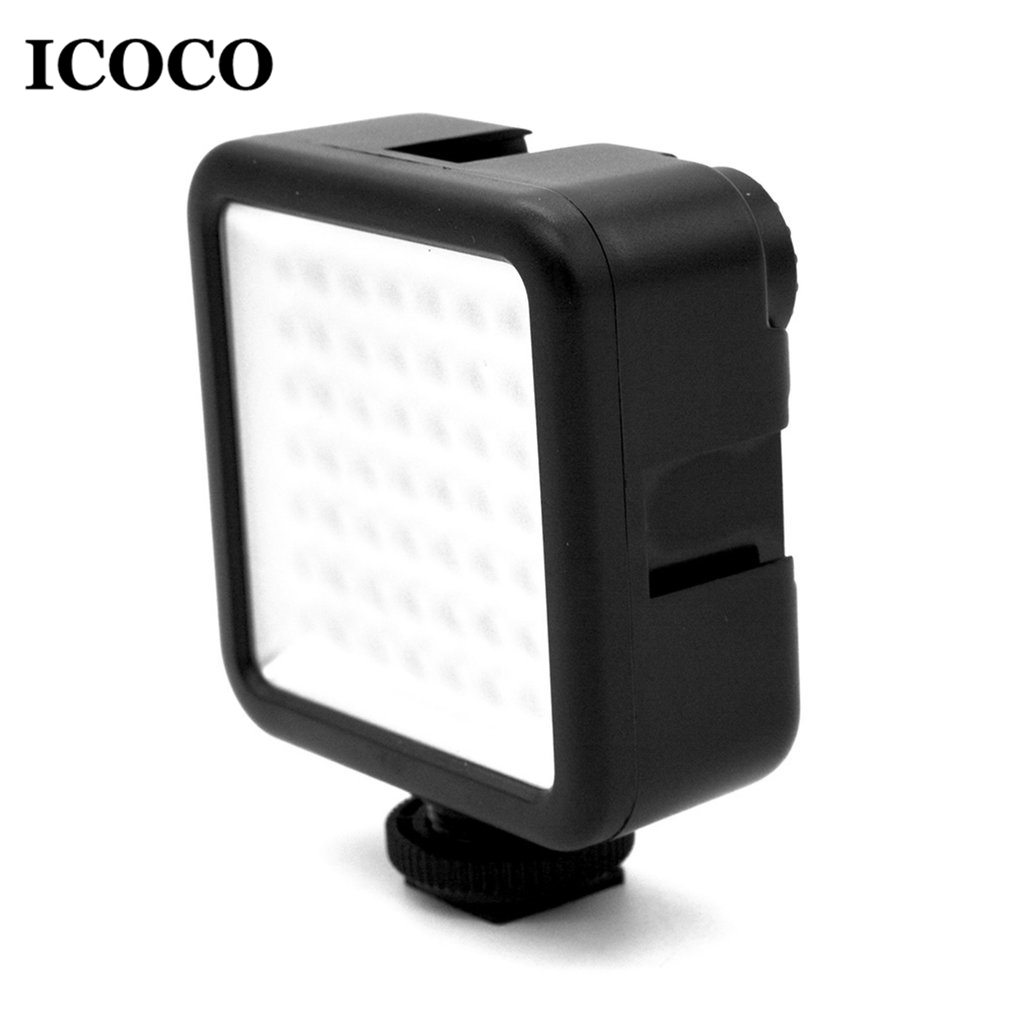 ICOCO Mini Portable 49 LED Video Light Ultra Bright Lamp Photographic Photo Lighting Camera Photography Wholesale Drop Ship ...