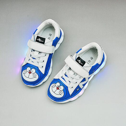 New 2017 LED lighted fashion cartoon baby casual sneakers Lovely princess boys girls shoes high quality sports baby shoes
