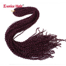 28inch Eunice Synthetic Box Braids Hair Thin Twist Zizi Bohemian Style 613/1B/#99j/blonde Crochet Extensions