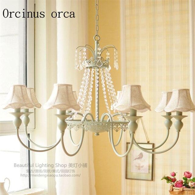 Francese romantico pastorale cristallo lampadari sala da pranzo ...