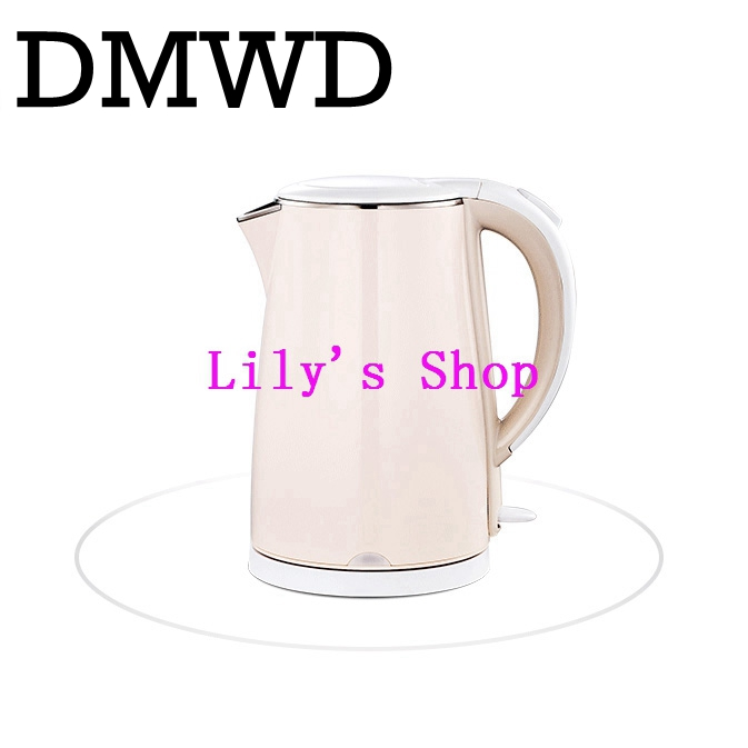 DMWD Household electric heating kettle insulation boiler heater stainless steel Anti-burning hot water bottle Coffee pot EU US kakw 20sa electric commercial 20l black steel wiredrawing water boiler