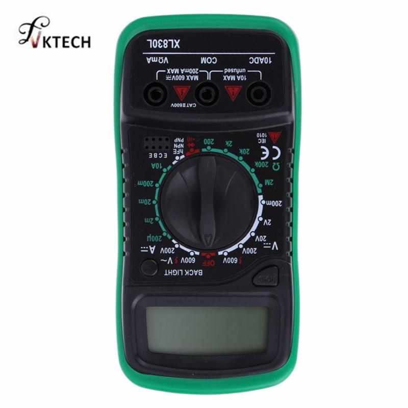 XL830L Digital-Multimeter Voltmeter Amperemeter AC DC OHM Volt Tester LCD Test Strom Multimeter Überlast Schutz
