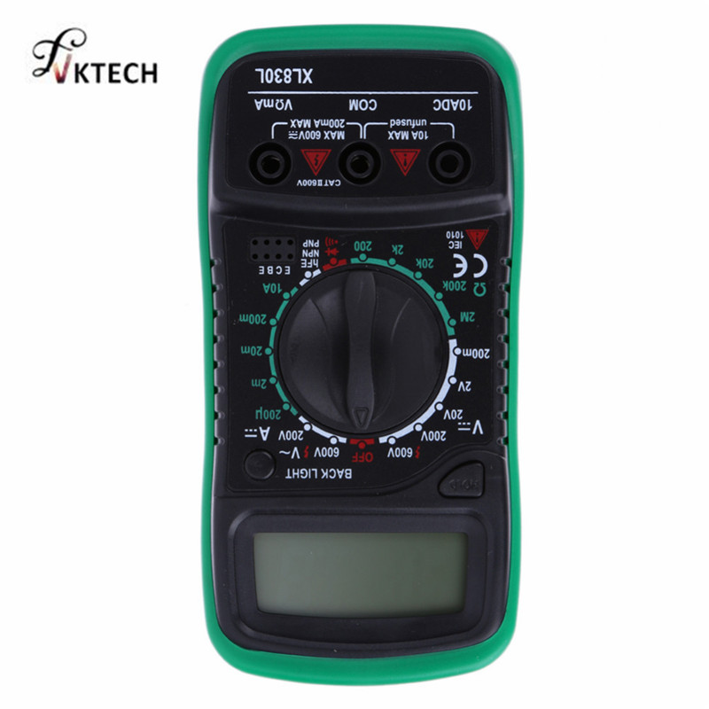 XL830L Digital Multimeter Voltmeter Ammeter AC DC OHM Volt Tester LCD Test Current Multimeter Overload Protection мультиметр flyfireshop 2 lcd avometer xl830l