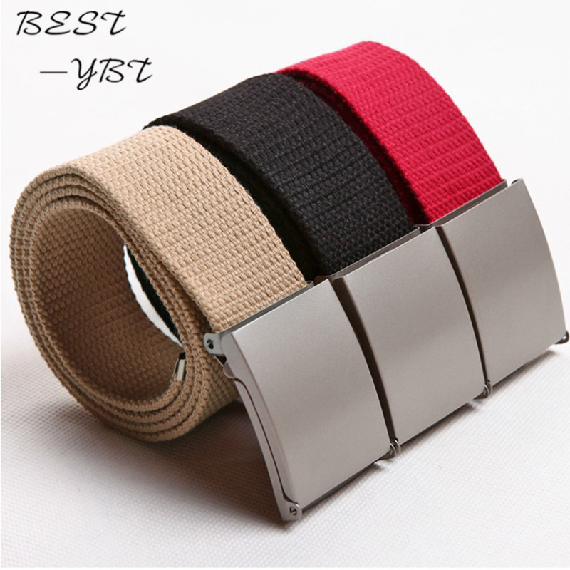 New 11 Colors simple fashion Candy Colors Men Women Unisex Boys Plain Webbing Cotton Canvas Metal Buckle   Belt   Accessories