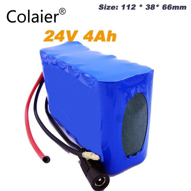 Colaier 24V 4000 18650 バッテリーパック 25.2V 4000mAh 充電式バッテリーミニポータブル充電器 LED/ランプ /カメラ