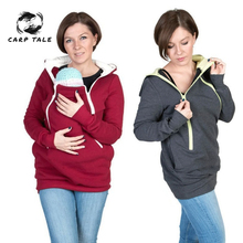 2019 New Parenting Baby Hooded Sweatshirt Jacket Mother Pregnant Women Kangaroo Pullovers Tops Clothes for Maternity Wear все цены