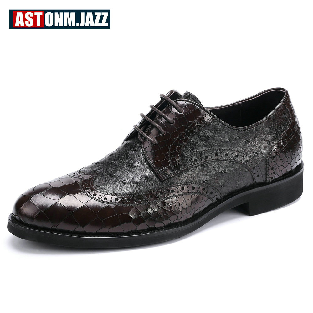 Men's Wedding Dress Shoes Casual Crocodile Genuine Leather Oxfords Shoes Bussiness Brogues Shoes Moccasins For Men's Party Shoes men s casual genuine leather crocodile oxfords shoes wedding shoes for mens brogues shoes gentleman business shoe dress moccasin