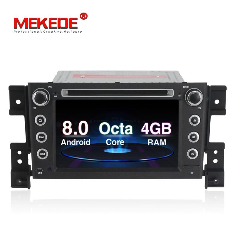 PX5 Android 8.0 4G RAM 32G ROM Car radio Stereo DVD player for SUZUKI grand vitara 2005- With GPS Navigation 64 Bits Octa Core