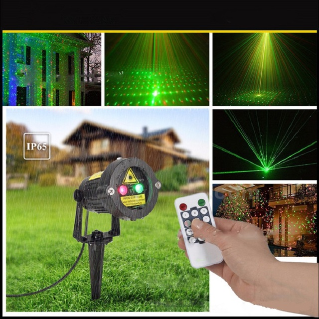 Outdoor Garden Lawn Effect Light Fairy Sky Laser Spotlight Light Star Projector Showers Static Twinkle With Remote Controller
