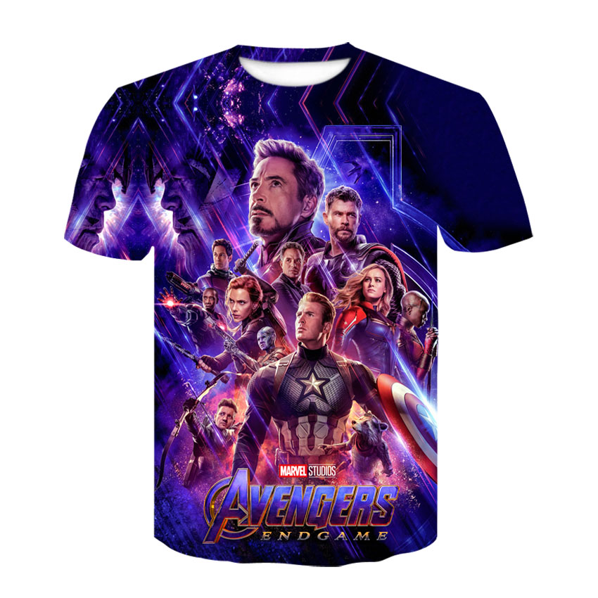 2019 New Design T Shirt Men/women Avengers Endgame 3D Print T-shirts Short Sleeve Style Tshirt Tops AS SIZE