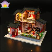 DIY Doll House Wooden doll Houses Miniature dollhouse Furniture Kit Toys for children Gift Chinese style Assemble 3d DREAM house