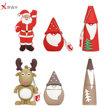 Santa Claus pendrive Silicon usb flash drive 32gb 2.0 memory 128GB 64GB 16GB 8GB 4GB pen Christmas Series disk