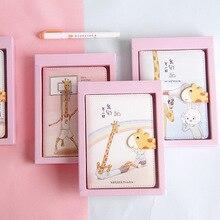 цена JUGAL Cute Giraffe Notebook Multiple Inner Pages Schedule Planning Notebook Organizer Journal Dairy A6 Hardcover Diary онлайн в 2017 году