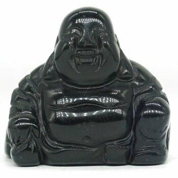 1,1 дюйма натуральный драгоценный камень белый бирюзовый говлит Maitreya камень Будды резная Фигурка ремесла счастливый Чакра Исцеление Рейки