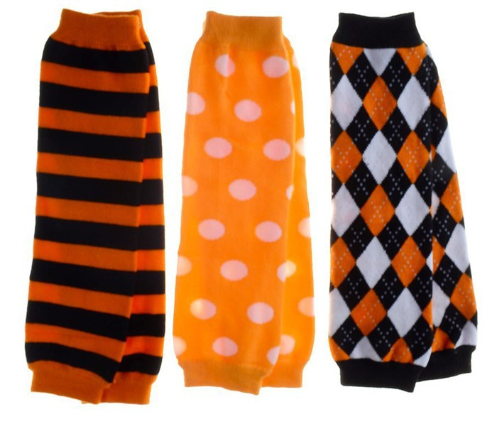 set of 3 halloween leg warmers striped argyle polka dot baby leg warmerleggings baby crawling knee baby girl tights in leg warmers from mother kids on