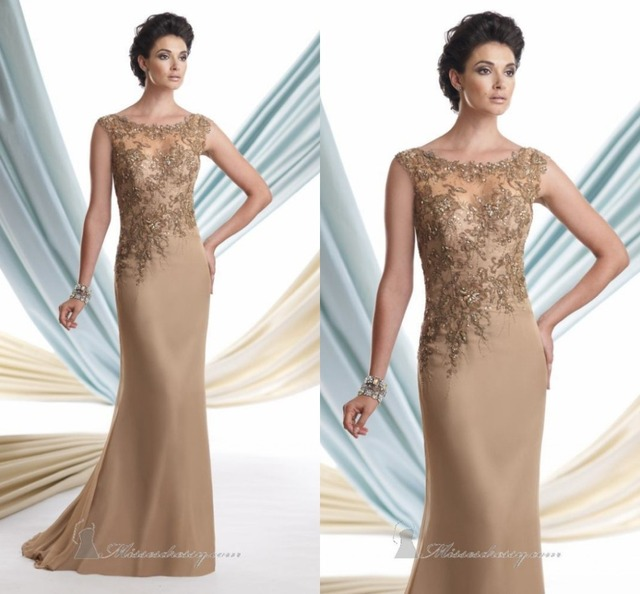 Champagne dress for wedding for mother