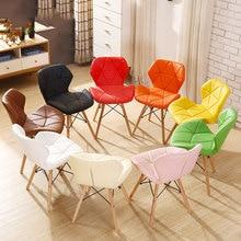 Обеденный стул, современный минималистичный стол и стул, домашний обеденный стул, компьютерный стул из твердой древесины, скандинавский обеденный стул