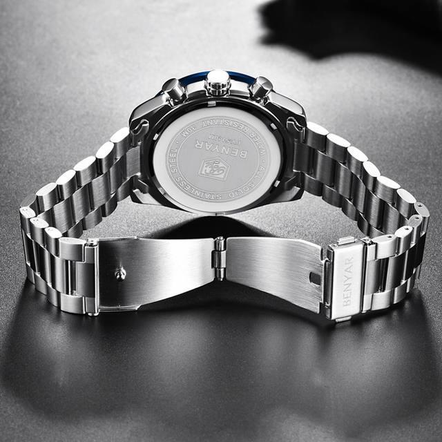 BENYAR 2018 New Men Watch Business Full Steel Quartz Top Brand Luxury Casual Waterproof Sports Male Wristwatch Relogio Masculino