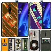 Classic retro cassette tape Black Case for Xiaomi Redmi Note 7 7s K20 5 6 Pro 5Plus 4X S2 Y3 Silicone Soft