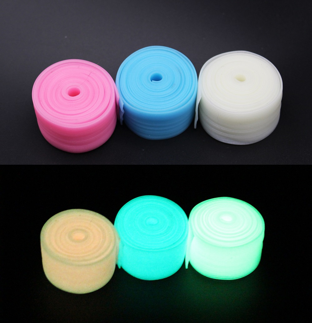 Tigofly 150cm Silicone Skirts 3 Colors 0.5mm thick Luminous Glow DIY Spinner Bait Squid Rubber Thread Fly Tying Materials