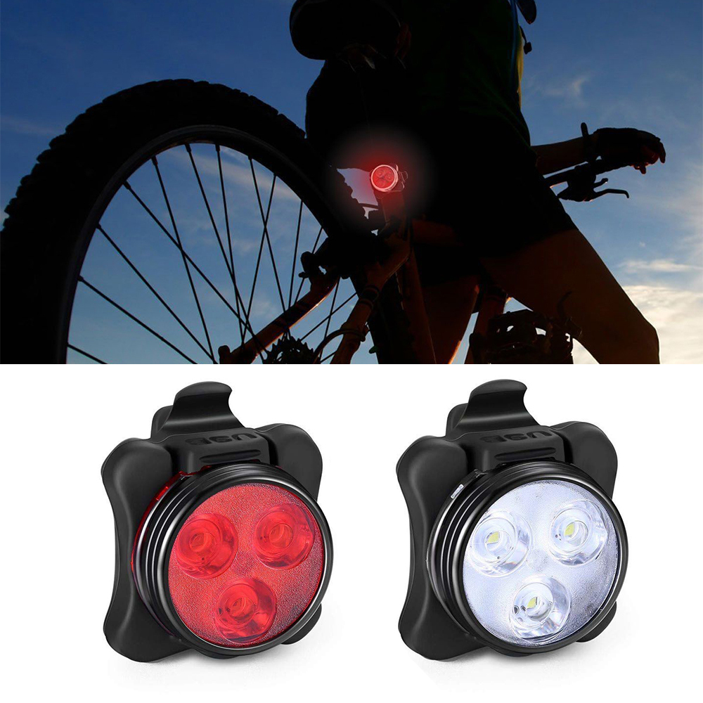 Rechargeable  LED  Bicycle Light Bike Front Headlight Night Safety Warning