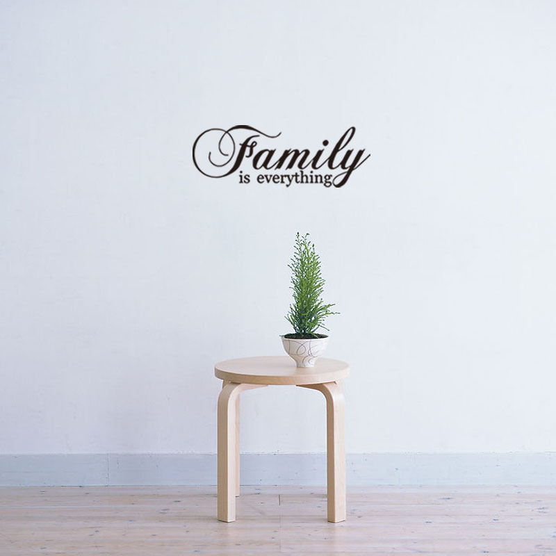 Family Is Everything Inspirational Wall Sticker Living Room Bedroom For Home Decoration Decals Wallpaper Door Stickers Poster