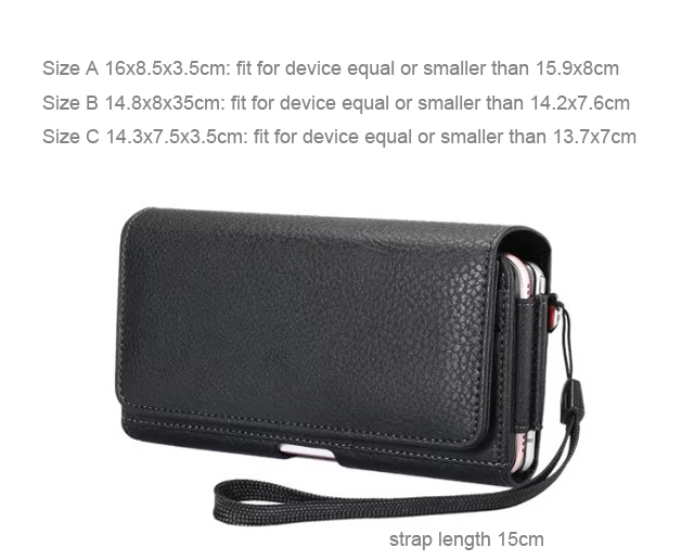 Vertical Horizontal Strap Belt Clip Dual Mobile Phone Leather Case Card Pouch For Cubot S550 S550