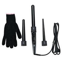 Removable Hair Curling Iron Conical Curling Wand Interchangeable 3 Parts Clip US EU Plug Hair Curler