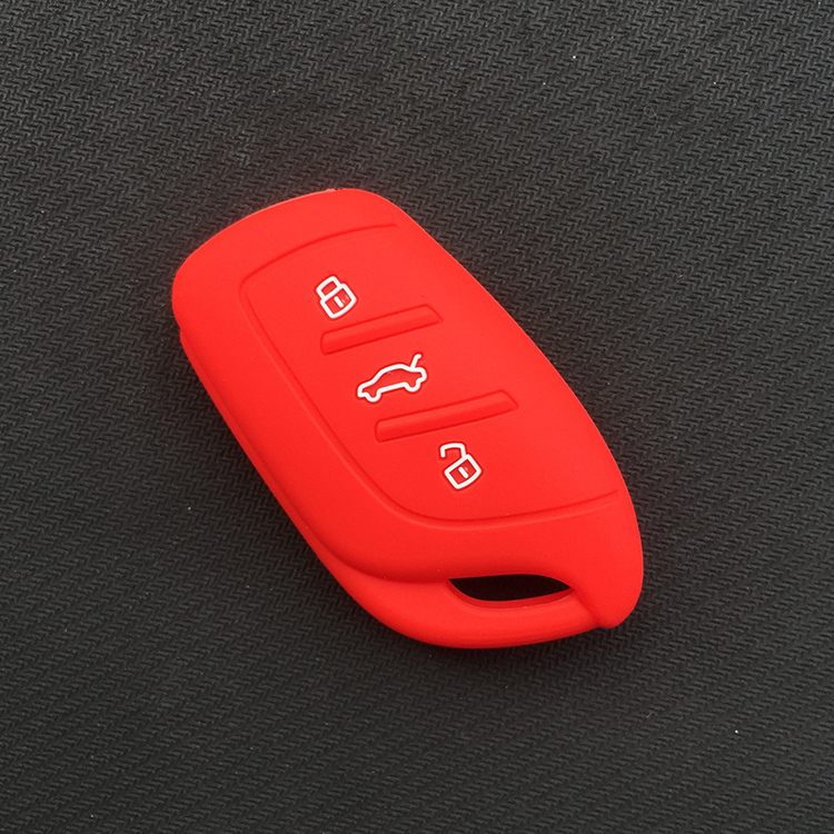 Силиконовый резиновый чехол для автомобильного Брелока Для MG ZS EV HS 3 кнопочный ключ