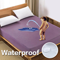 Solid color Bed Mattress Cover Waterproof Mattress Protector Pad Fitted Sheet Separated Water Bed Linens with Elastic 301-0823