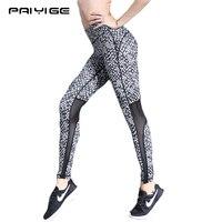 PAIYIGE Hot Sale Women Elastic Calcas Yoga Mallas Mujer Leggings High Waist Dots Printing Gym Workout