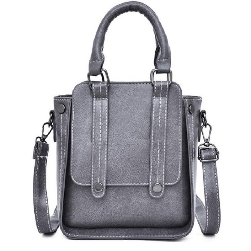 Sac à main de dame petit Pu cuir solide marque de luxe 2019 5 couleur femme Vintage mode épaule voyage fourre-tout main Messenger sacs