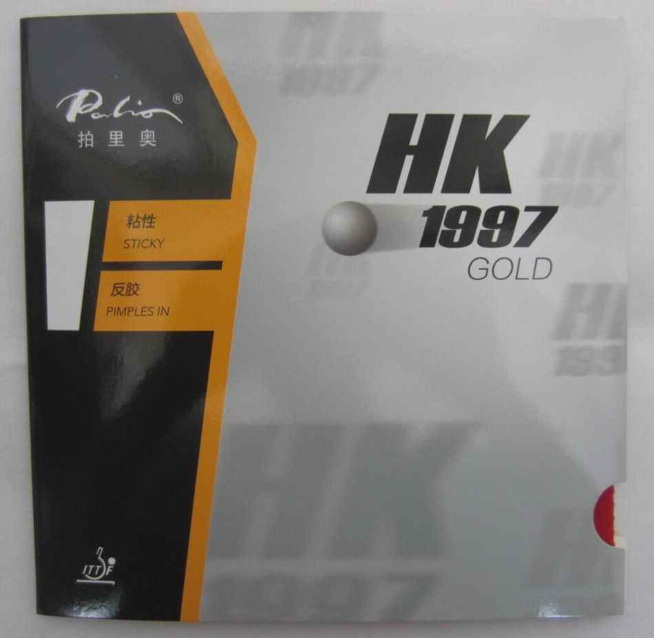 Orijinal Palio 40 + masa tenisi kauçuk AK 47 ve HK1997 altın renkli sünger masa tenisi raketleri raket spor ping pong kauçuk
