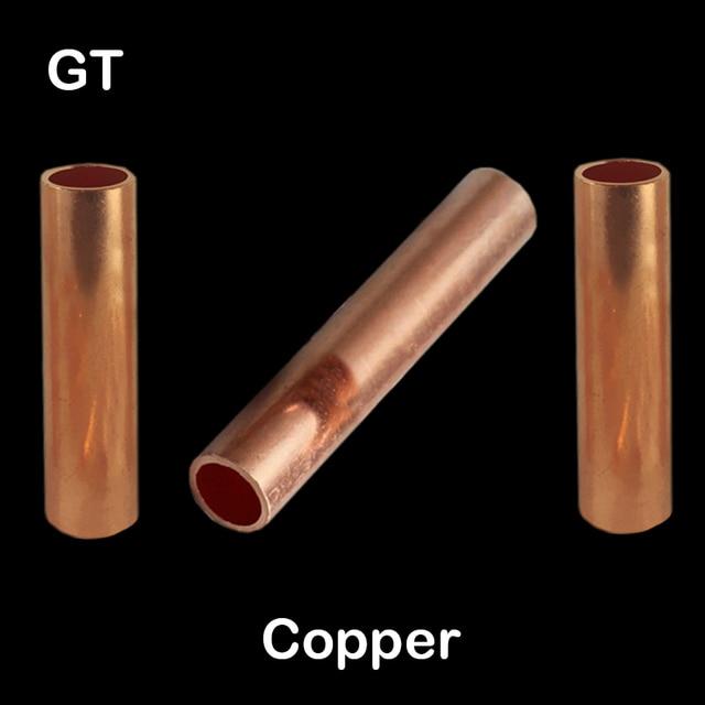 GT 10 GT 16 GT 25 GT 35 Kupfer Keine Isolierung Draht Kabel Loch Vorbei Anschluss Hülse Rohr Ferrule Lug Anschluss Crimp Terminal|Terminals|   -