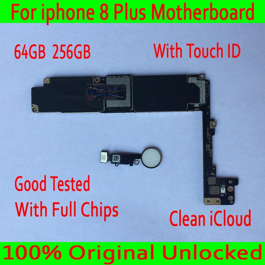 Per iphone 8 Più Scheda Madre Con Touch ID/Senza Touch ID 100% sbloccato Originale per iphone 8 Più di 8 p Logica bordo + Chip