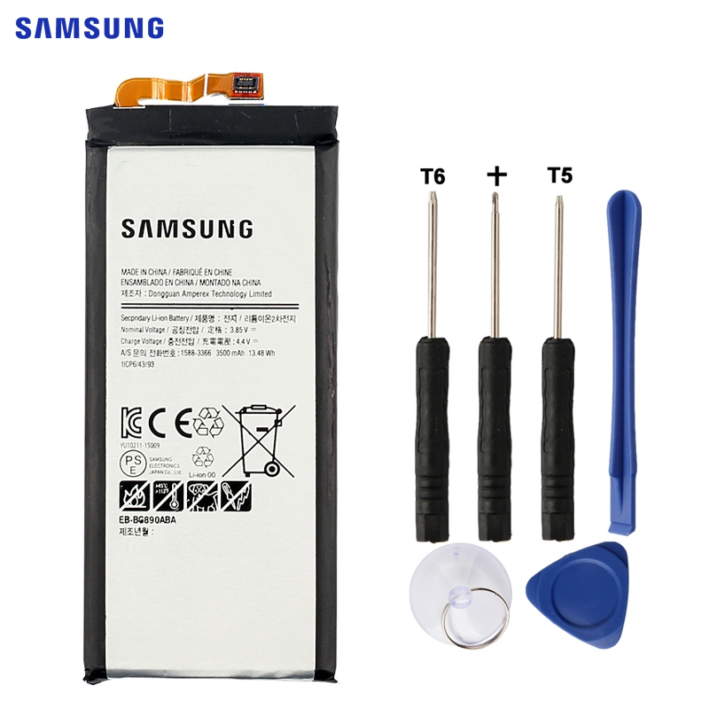 SAMSUNG Original Ersatz Batterie EB-BG890ABA Für Samsung GALAXY S6 Aktive G870A G890A 3500 mah