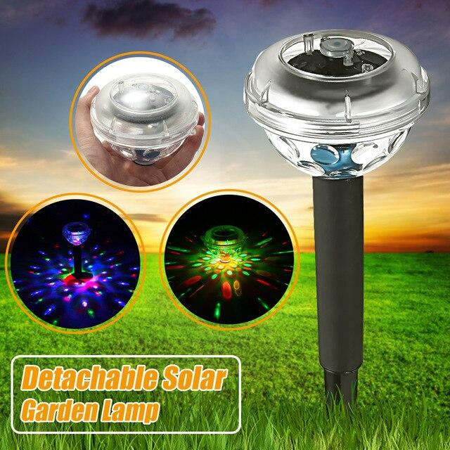 4LED Solar Licht Schwimm Unterwasser LED Disco Lichter Solar Garten Pfad Yard Zaun Schwimmen Pool Lampe Notfall Art Deco Beleuchtung