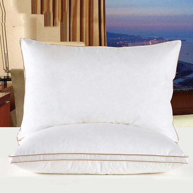 Soft White Goose Feather Cotton Sleep Pillow