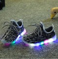 New Girls Boys LED Shoes Children Casual Shoes Baby Toddler Shoes Kids Sports Shoes Kids LED Light Sneaker Baby Luminous,4 color