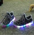 Nuevos Niñas Niños LED Zapatos de Los Niños Zapatos Ocasionales Del Niño Del Bebé Deporte zapatos de Los Niños Zapatos Niños Zapatilla de Deporte Del Bebé Luminosa LLEVÓ La Luz, 4 color