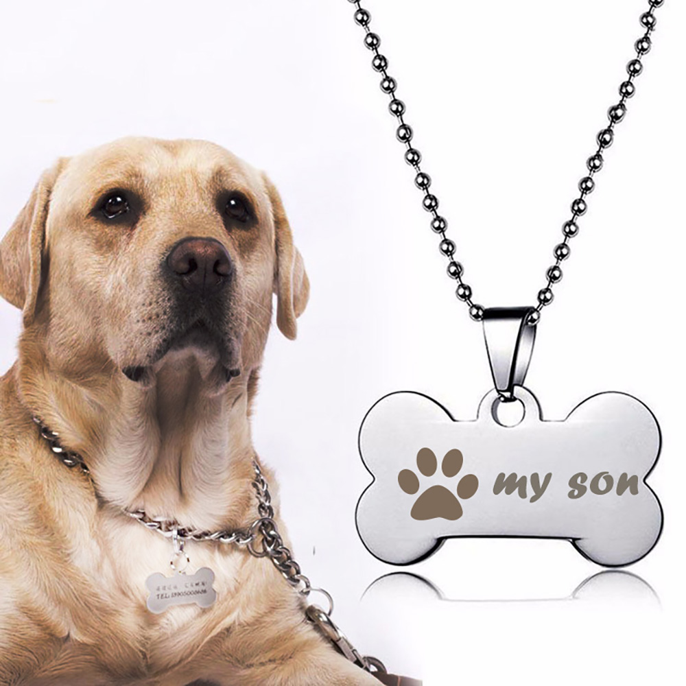 Personalized Stainless Steel Pet <font><b>Dog</b></font> ID Tags for Cat <font><b>Dog</b></font> <font><b>Collar</b></font> Accessories Customized <font><b>Dog</b></font> ID Tag Engraved Tel <font><b>Sex</b></font> Name Tag image
