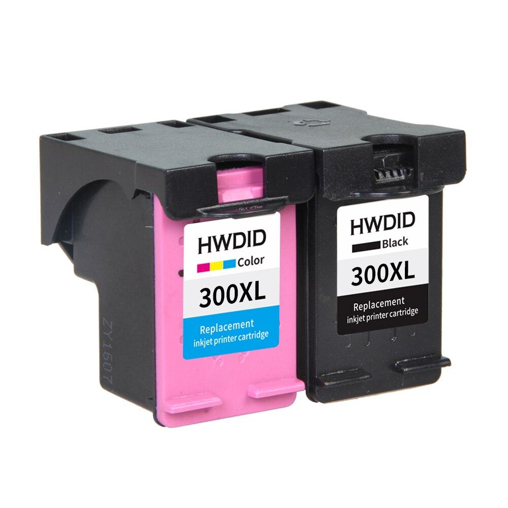 2 Pack Remanufactured Ink 300XL 300 Cartridge BK Color for HP Deskjet D1660 D2560 D2660 D5560 F2420 F2480 F2492 F4210 PRINTERS 2pk for hp 61xl remanufactured ink cartridge bk