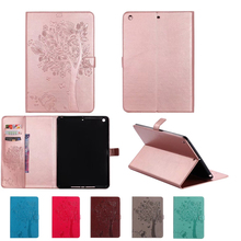 Cat and tree PU Leather-based Good Cowl For brand spanking new ipad Case For New Ipad 9.7 2017 A1822 Pill cowl With Magnetic Auto Wake Up Sleep