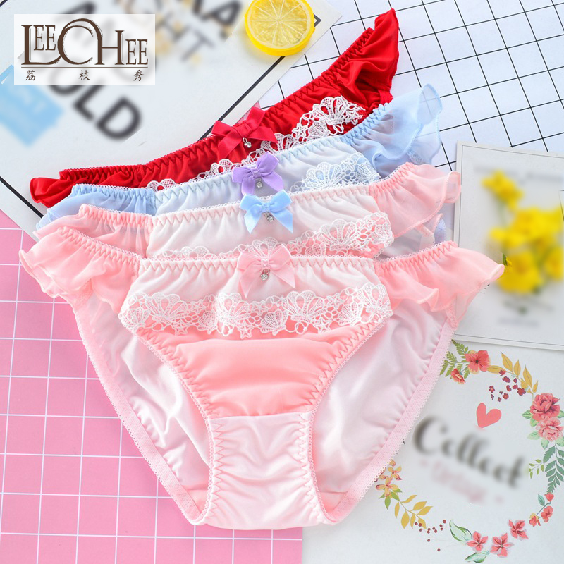 aff92dabcb3 Japanese single Japanese new student girl underwear milk silk water soluble lace  low waist college women s