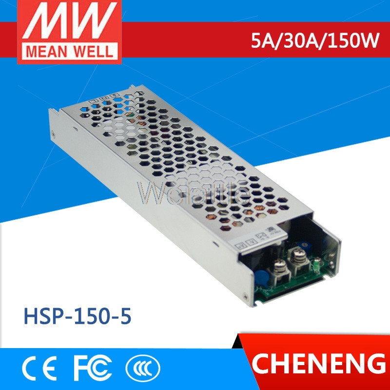 MEAN WELL original HSP-150-5 5V 30A meanwell HSP-150 5V 150W Single Output with PFC Function Power SupplyMEAN WELL original HSP-150-5 5V 30A meanwell HSP-150 5V 150W Single Output with PFC Function Power Supply