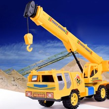 Mini  Engineering Truck Tractor Model Kid Car Toys Simulation Car for Children Toys for boys Gifts Crane Truck 1 50 high simulation alloy crawler crane truck toy car mini diecast engineering crane car model for children enduction toys gift